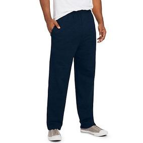 Pants Hanes 2xl Hombre Azul Marino Ecosmart Con Bolsillos