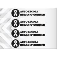 4 Adesivos Auto Escola Brian Oconner /assinatura Paul Walker