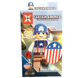 Juguete Lego Figura Armable Cap America Big Hero Comiquitas