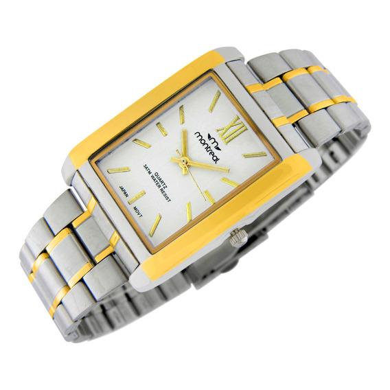 Reloj Montreal Hombre Ml801 Sumerg Malla Acero Envío Gratis