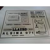 Poster Publicidad Antigua Casa Llauro - 30 X 20 -lam B