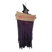 Bruxa Caveira Halloween Esqueleto Welcome Assustador Festa