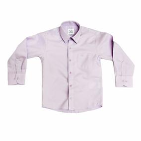 Camisa Manga Larga Oscar Lila Lavanda 1 2 3 Y 3x Con Moño