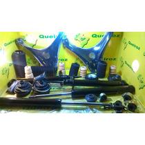 4 Amortecedores+4 Kits Bat+bandejas+pçs Gol Quadrado/voyage