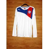 Camiseta Puma Chile 2012-13 Visita, M, Mangas Largas, Nueva