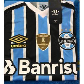 Camiseta Grêmio 2018 Com Numero E Patch De Campeão