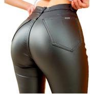 Pantalón Engomado Elastizado De Mujer Tiro Alto T 36 Al 46