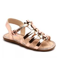 Sandália Molekinha Ouro Rosado 2112.130 Calçados Bola7