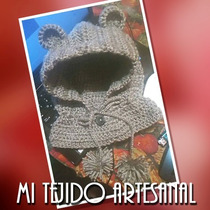 Gorro Capucha Tejido A Crochet