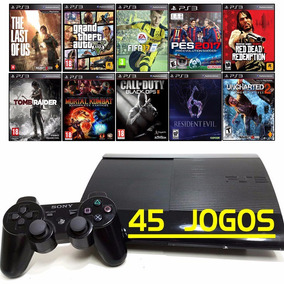 Ps3 + 45 Jogos Originais + Playstation 3 Super Slim + 12x