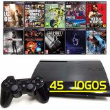 Ps3 + 45 Jogos Originais + Playstation 3 Super Slim + 12x