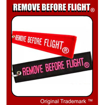 2 Llaveros Remove Before Flight El / Ella