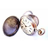 Antiguo Reloj Zenith Cazador Plata 1910c Funcionando 53mm