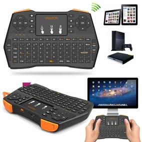 Teclado Bluetooth Con Luz , Tv Box ,pc / Boris Importacione