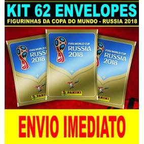 Kit De Figurinhas Da Copa Do Mundo Rússia 2018 - 62 Pacotes