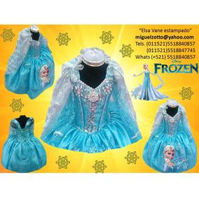 Disfraz Vestido Frozen Elsa Niña Disney Presentacion Lujo Xv