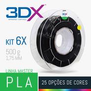 Kit Filamento Pla 1,75 Mm | 6 X 500g