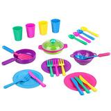 Peradix Kids Play Platos Platos De Cocina Accesorios Utensil