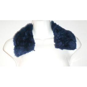 Mini Estola Azul Cuello De Peluche Para Abrigo Saco Chamarra