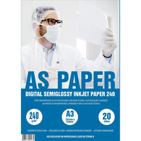 Papel Digital Semi Glossy Inkjet A3 20 Folhas - Usa Folien