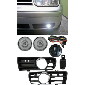 Kit Farol Milha Vw Golf 1999 Á 2006 Bt Original + Molduras