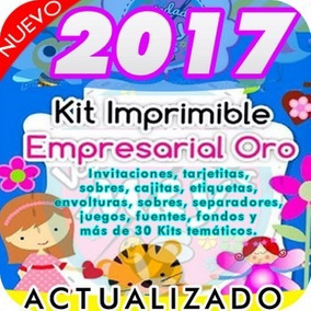 Kit Imprimible Empresarial Oro Completo +de 120 Kits + Bonos