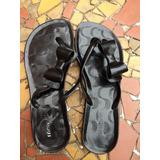 Sandália Chinelo De Plástico Preta + Laço (descolado) 38/39