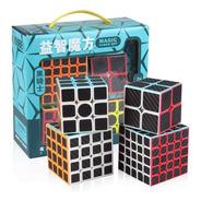 Pack Set De 4 Cubos Regulares Fibra Carbono Meilong