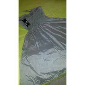Vestido Cinza Pano Tafetá