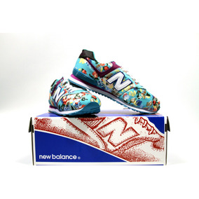 Zapatillas New Balance 574 Floreadas 35 36 37 Talle Eur.