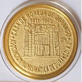 8 Reales Durango 1811-1895 Fachada Casa De Moneda Dorada