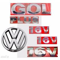Emblema Gol Plus 16v + Lateral 16v + Vw Grade - G3 Geração 3