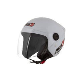 Capacete Aberto New Liberty 3 Three Pro Tork Branco 58 Moto