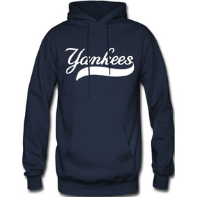 Sudadera New York Yankees Mlb Hoodie Capucha Con Cangurera