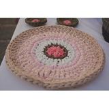 Individual Posa Plato Crochet, Trapillo O Totora Aristacreac