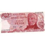 Billete De Argentina De Cien Pesos