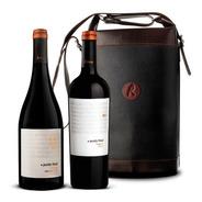 Vino Punto Final Reserva Set 2 Botellas + Bolso De Cuero