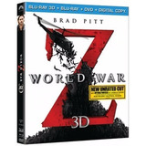Blu-ray 3d World War Z + Blu-ray + Dvd + Digital Copy