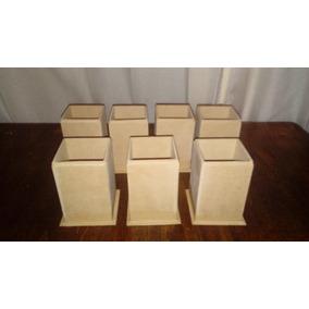 Portalapices En Fibrofacil De 6x6x9 Con Rebaje - Souvenirs