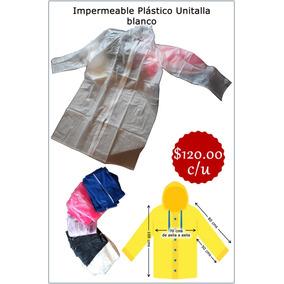 Impermeable Unitalla Color Blanco Nuevo Pvc