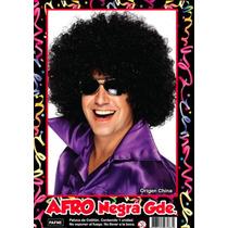 Peluca Afro Negra Grande - Fiesta & Eventos La Golosineria