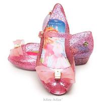 Anabela Infantil Laço 3 Cortes - Rosa Gliter - Miss Miss
