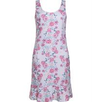 Vestido Feminino Em Sarja Estampa Floral Seiki 380276