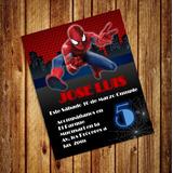 Invitaciones Digitales De Spiderman Hombre Araña