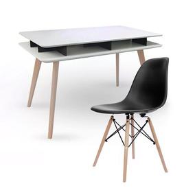 Escritorio Diseño Escandinavo Nordico Mesh + Silla Eames