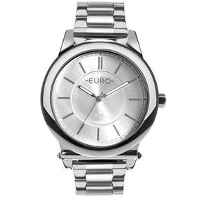 ab2bee1a595 Relógio Feminino Euro Eu2036ymt 3k 43mm Aço Prata