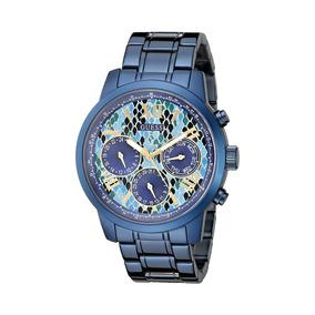 515051f2a6d Guess Women s U0330l17 Iconic Indigo Blue Python. Paraná · Relógio Police  Multi-função Tri-time ...