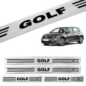 Jogo De Soleira Vw Golf 4 Portas Prata