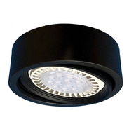 Lámpara Spot Semi Embutido 12w Ar111 Gu10 Led Circular Móvil