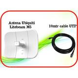 Kit San Luis Wifi 3.0 - Antena Ubiquiti Litebeam M5 + Cable